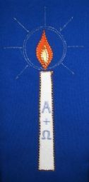 Embroidered Readers Scarf (candle)